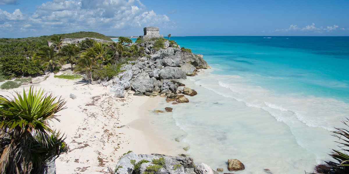 Little cove by Mayan ruins